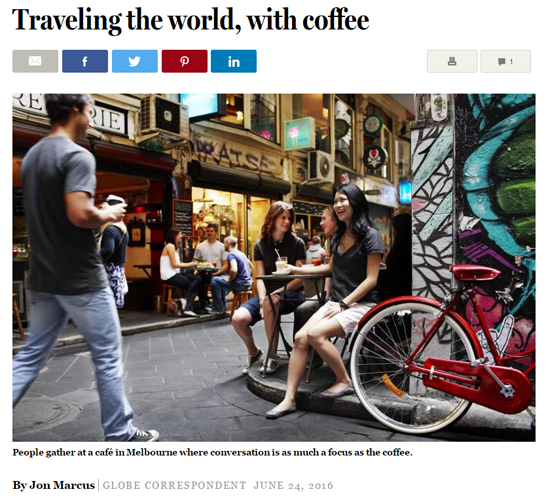 Boston Globe Article: Traveling the World, with Coffee
